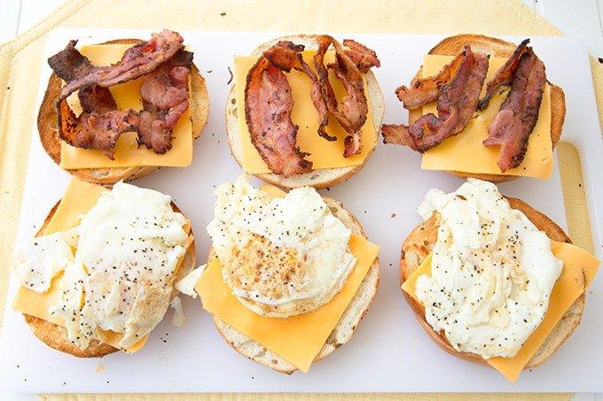 Breakfast Sandwich aka Anytime Sandwich with Bacon