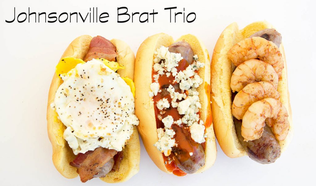 Johnsonville grilled Brats three ways