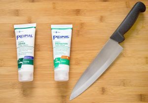 Excipial hand cream, dry cracked skin