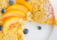 peaches and cream cottage cheese breakfast cake