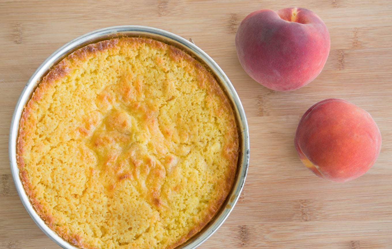 peaches and cream cottage cheese cake