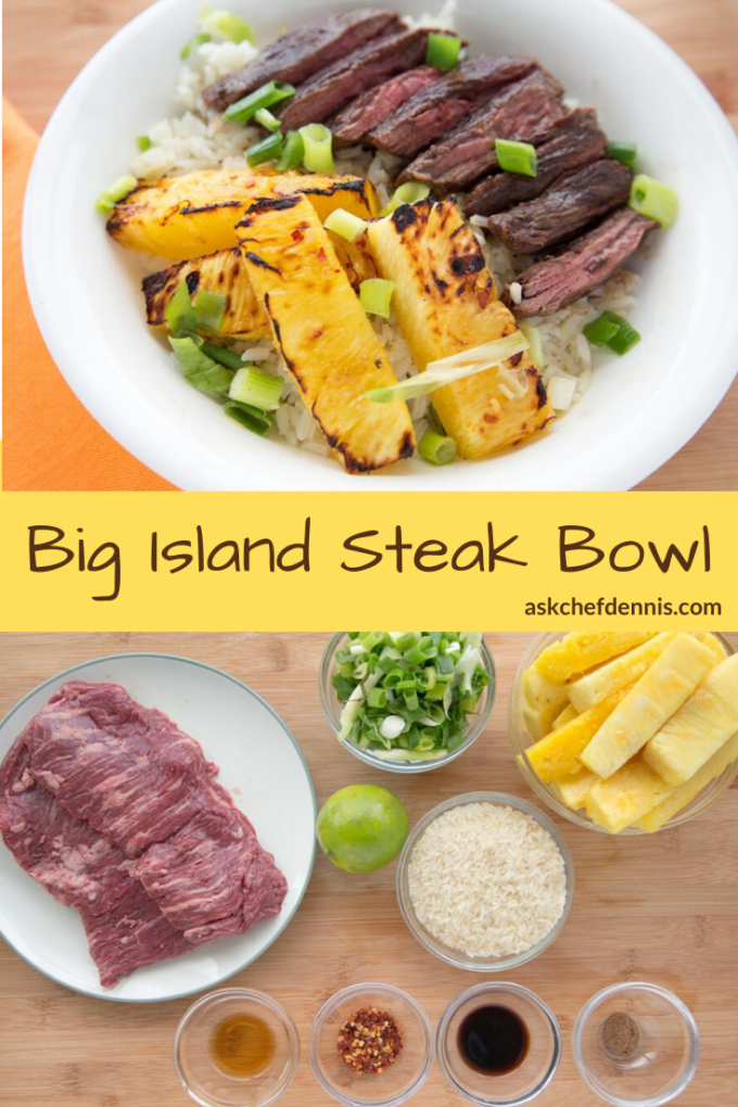 Pinterest Image for Big Island Steak Bowl