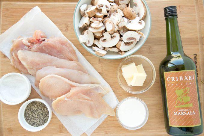 Classic Chicken Marsala Prep