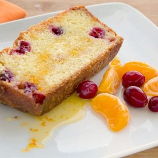 Clementine Cranberry Pound Cake with Clementine Glaze