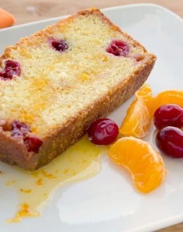 Clementine Cranberry Pound cake