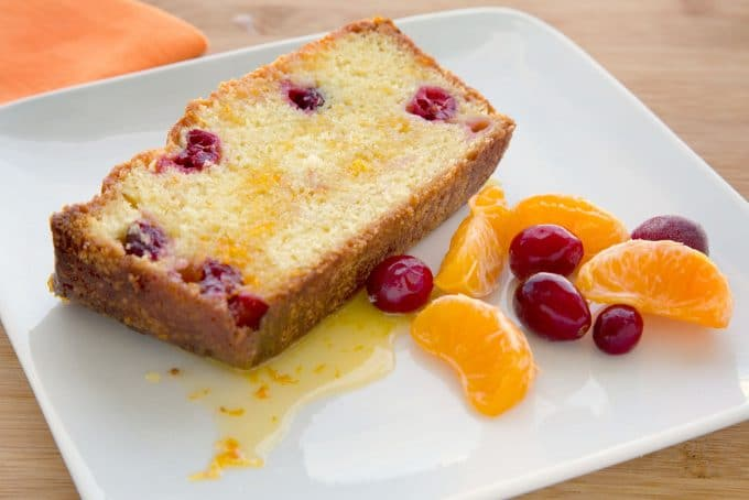 Clementine Cranberry Pound Cake Recipe with a Clementine Glaze