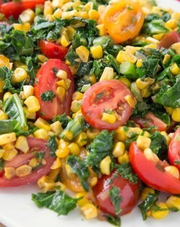 kale and corn succotash