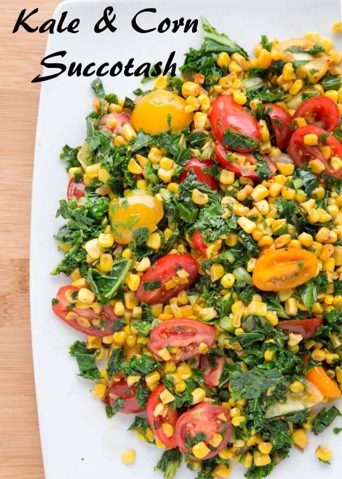 kale and corn succotash recipe