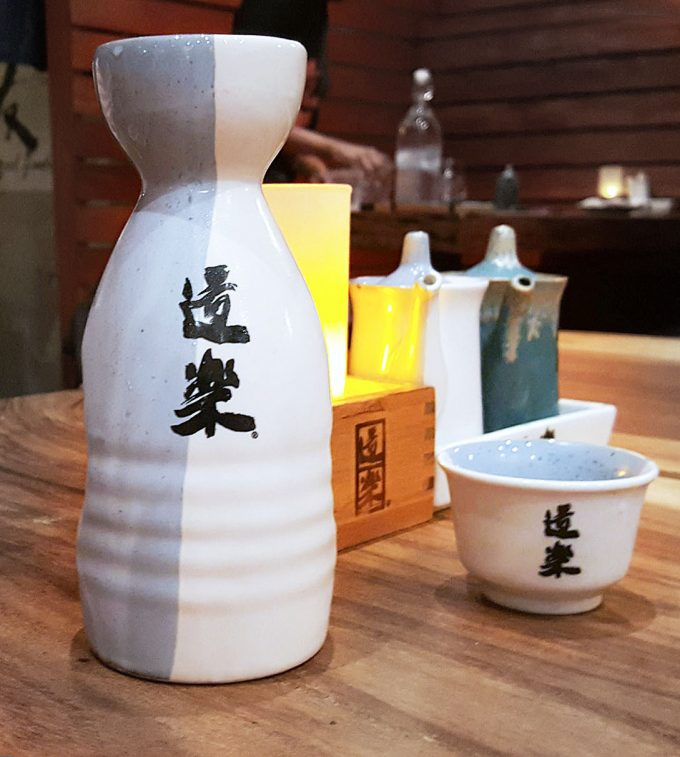sake at Doraku Sushi Buckhead Atlanta