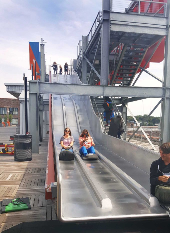 rooftop slide at Ponce City Market, Buckhead Atlanta
