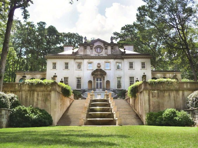 Hunger Games President Snow's mansion was the Swan House, #DiscoverATLSITSum conference in Buckhead section of Atlanta