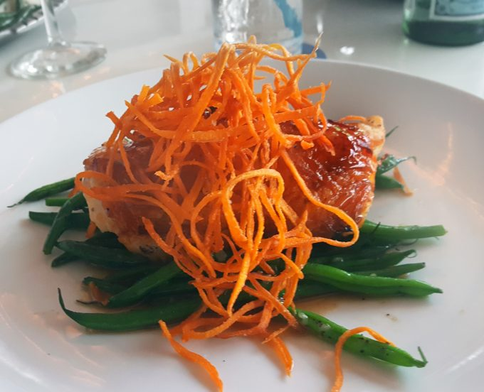 Sweet potato crusted grouper at Two Georges,
