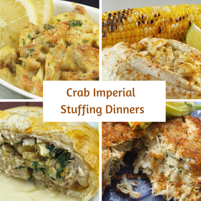 Collage of crab imperial dishes