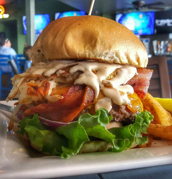 Hangover Burger at O'Maddy's in Gulfport, Florida
