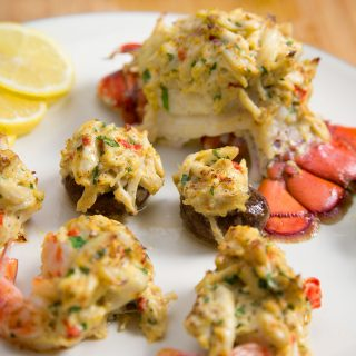 Stuffed Lobster, Stuffed Shrimp and Stuffed Mushrooms for that Extra Special Dinner