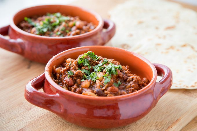 easy to make Tailgate three bean chili