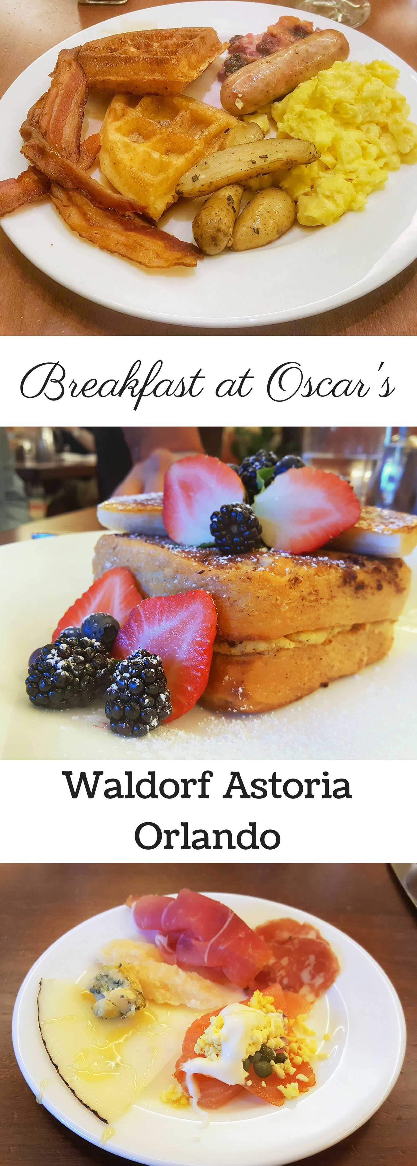 Breakfast at Oscar's in the Waldorf Astoria Orlando is most amazing breakfast experience you'll ever have