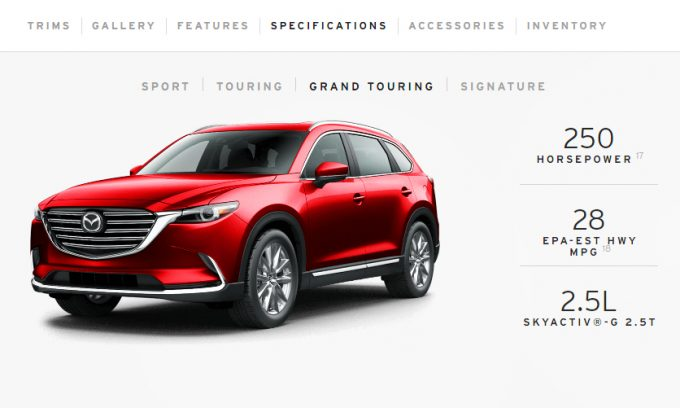 Mazda CX-9 because Driving Matters