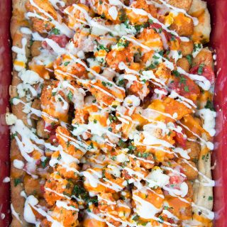 Game Day Buffalo Chicken Pizza, Farmrich #HalftimeHero
