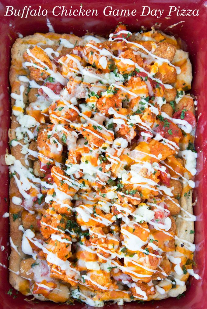 Game Day Buffalo Chicken Pizza, Farmrich ,Halftime Hero