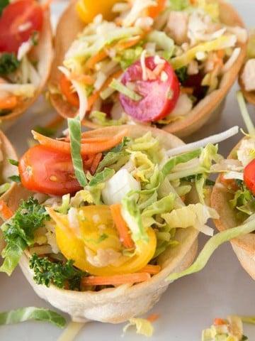 Chicken Taco Cup Salad Recipe