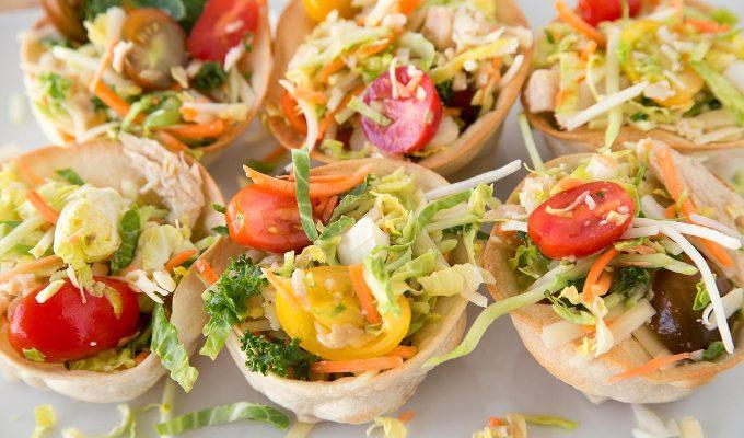 Chicken Taco Cup Salad (Fun Size) Recipe – Easy and Delicious!