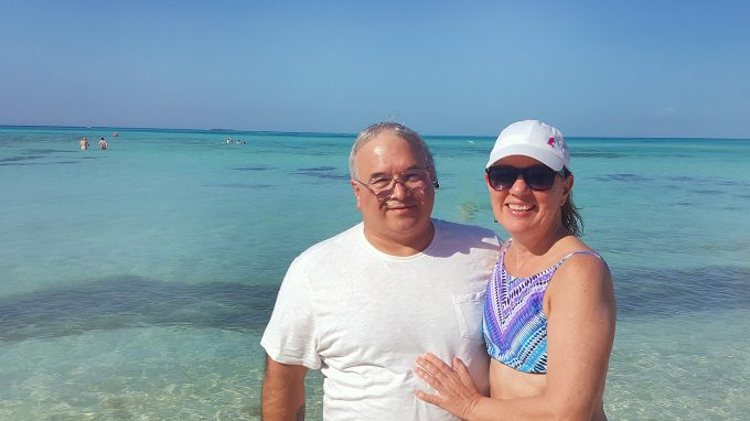Dennis and Lisa Castaway Cay Disney's private island on the Disney Dream Cruise