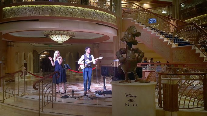 Main Deck Entertainment on the Disney Dream Cruise Ship