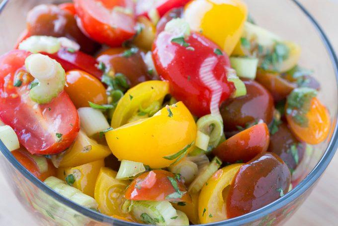 Nutrisystem for men, tomato salad