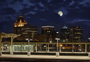 Visit Greensboro, Night time skyline