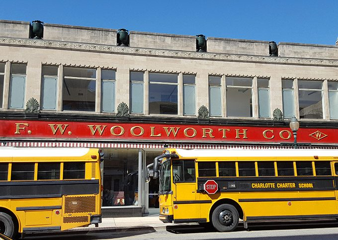 Greensbor Woolworths, site of sixties civil rights lunch counter sit in