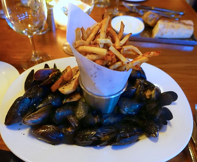mussel and frites, Printworks Bistro, Greensboro, NC