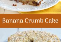 pinterest image for Banana Crumb Cake