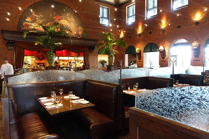 seating area of the Green Valley Grill