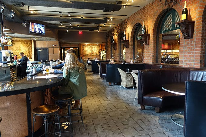 Bar area of Green Valley Grill