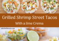 pinterest image for grilled shrimp street tacos