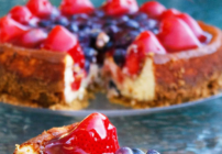 pinterest image for ricotta cheesecake