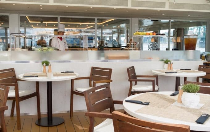 dining area on the viking river cruise