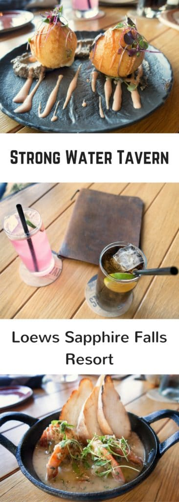 Bunelos, Drinks and Garlic Shrimp
