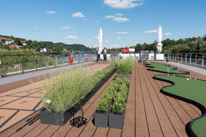 herb garden on the upper deck of a Viking longship