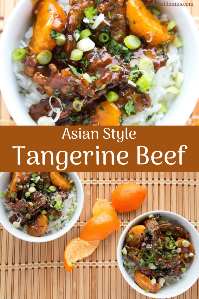 pinterest image of Tangerine beef