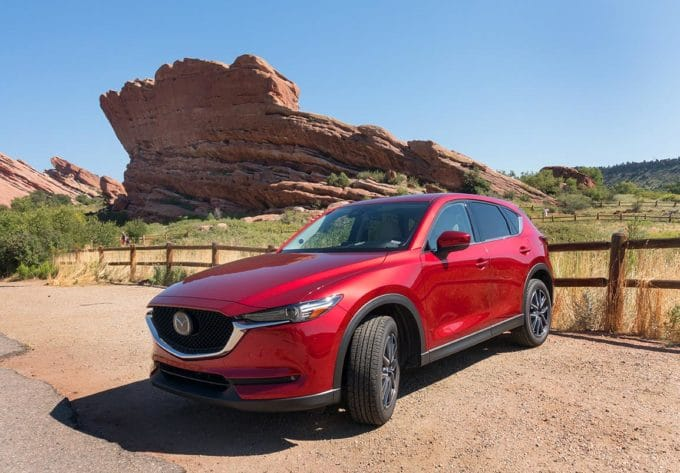 Soul Red Mazda CX-5 at Red Rocks, Colorado