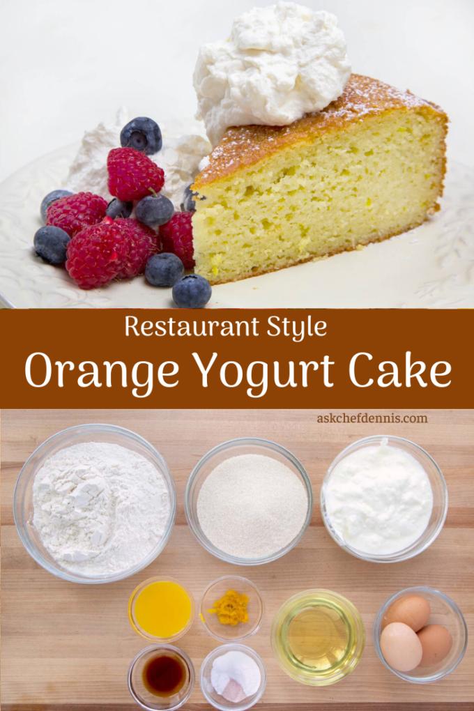 Pinterest image for orange yogurt cake