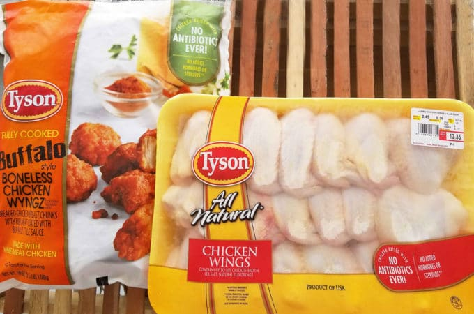 packages of Tyson Chicken