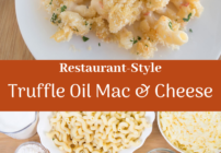 Pinterest image for truffle oil mac and cheese