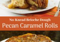 Pinterest image for Pecan Caramel Rolls