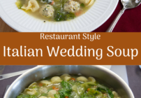 pinterest image for Italian Wedding Soup with Tortellini