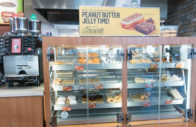 Donut and pastry serving case at RaceTrac