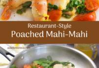 Pinterest image for poached mahi-mahi