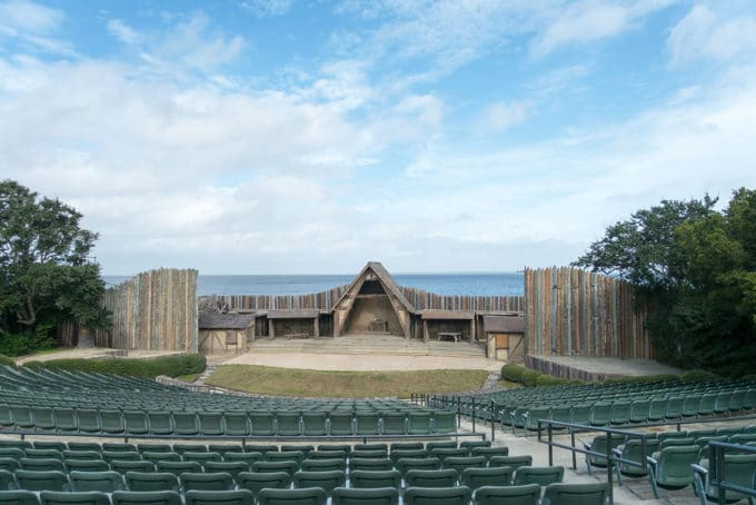 stage in Manteo, North Carolina where the lost colony show is performed